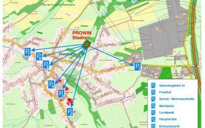 Parksituation zum Heimspiel gegen Trier