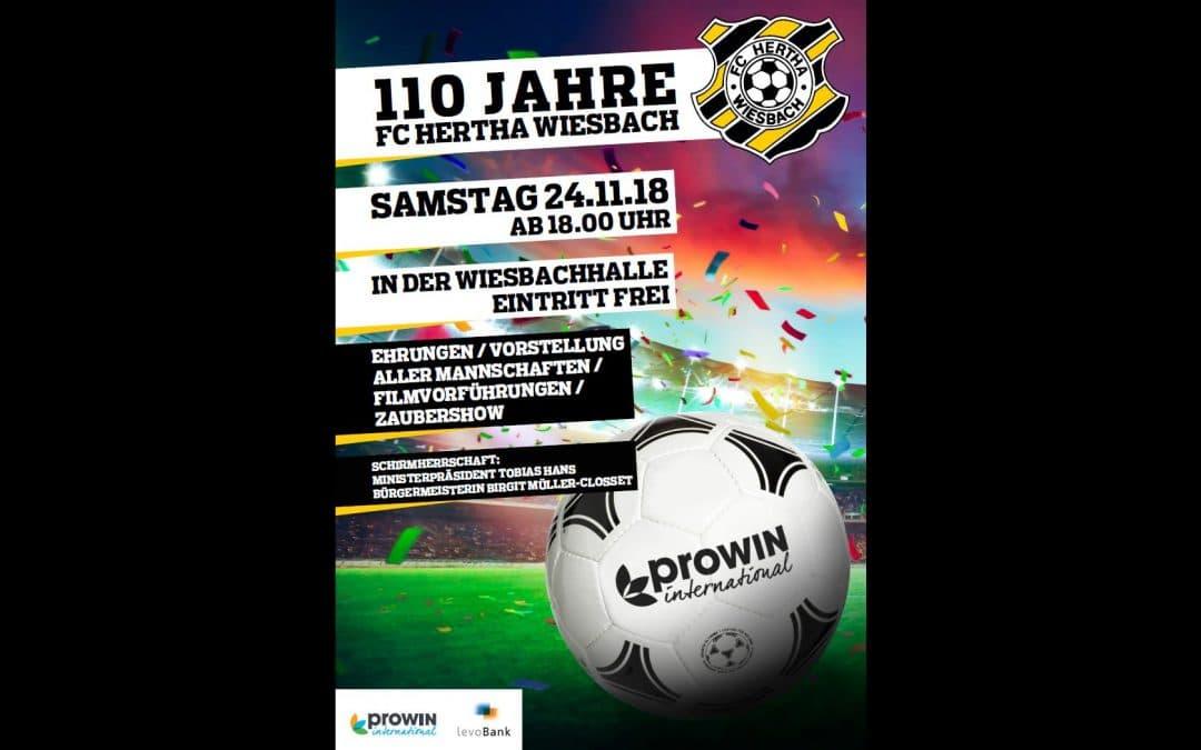 110 Jahre FC Hertha Wiesbach – Programmablauf