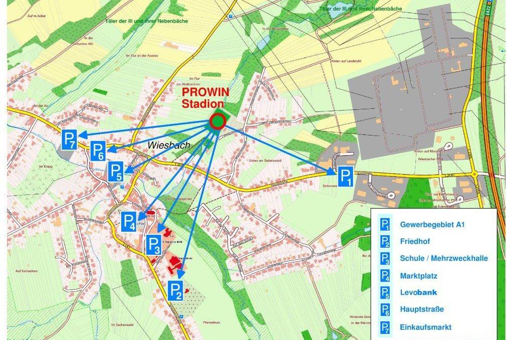 Parksituation beim Heimspiel gegen Koblenz