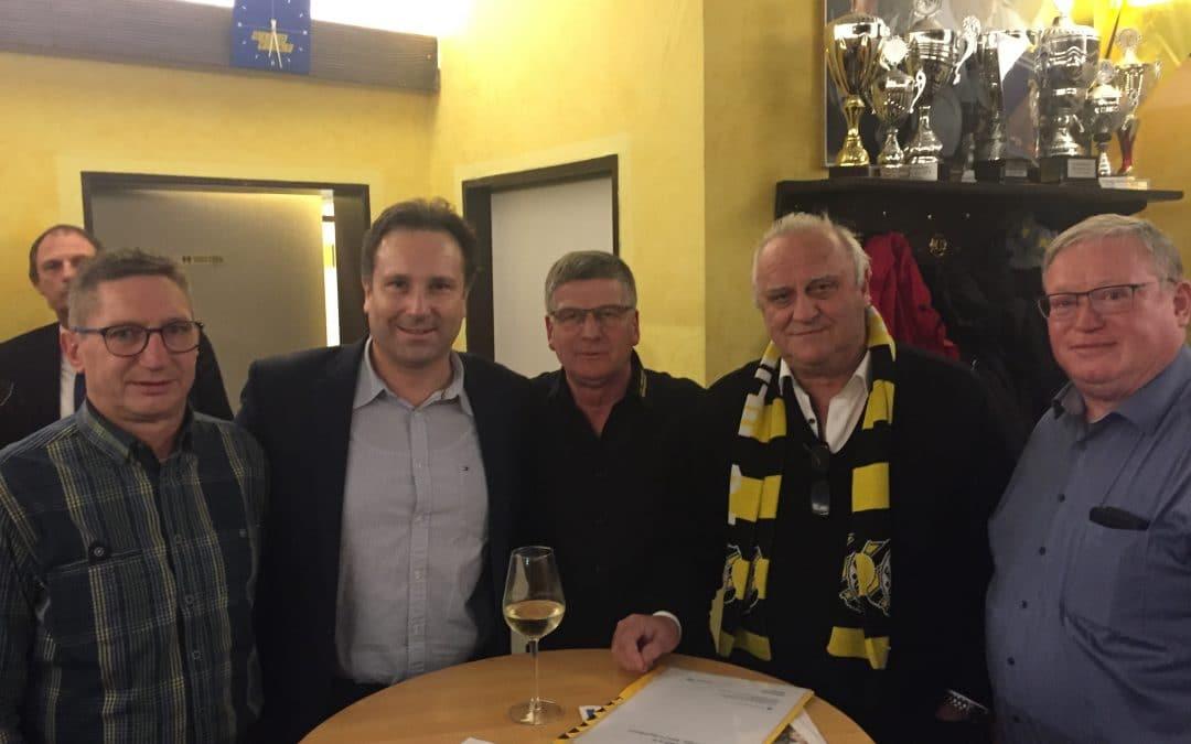 Innenminister Klaus Bouillon zu Besuch im proWIN-Stadion