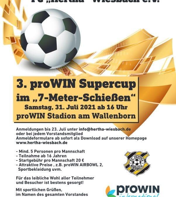 """3. proWIN-Supercup im """"7-Meter-Schießen"""""""